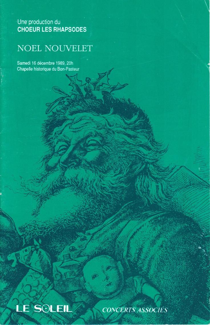 Décembre 1989  Noël Nouvelet  Les Rhapsodes