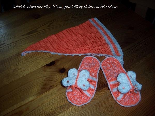 šátek a pantoflíčky-moje tvvoření