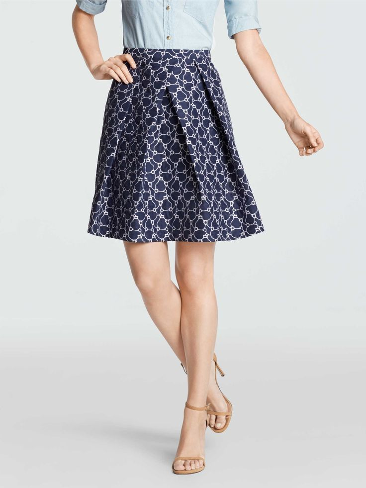 Harpeth Jacquard Skirt | Draper James '16 | A stunning skirt makes for a stunning outfit. Pair this voluminous, jacquard piece with a blouse, a tee, or a chambray shirt. High heels are our favorite with this, but flats and even sneakers look seriously cute too.