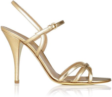 Moschino Cheap & Chic Gold Gold Strappy High Heel Sandal