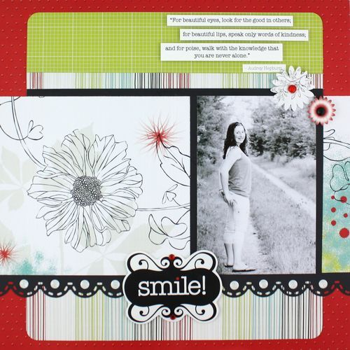 Smile Enchanted Scrapbook Layout Page Idea from Creative Memories #scrapbooking    www.creativememor...