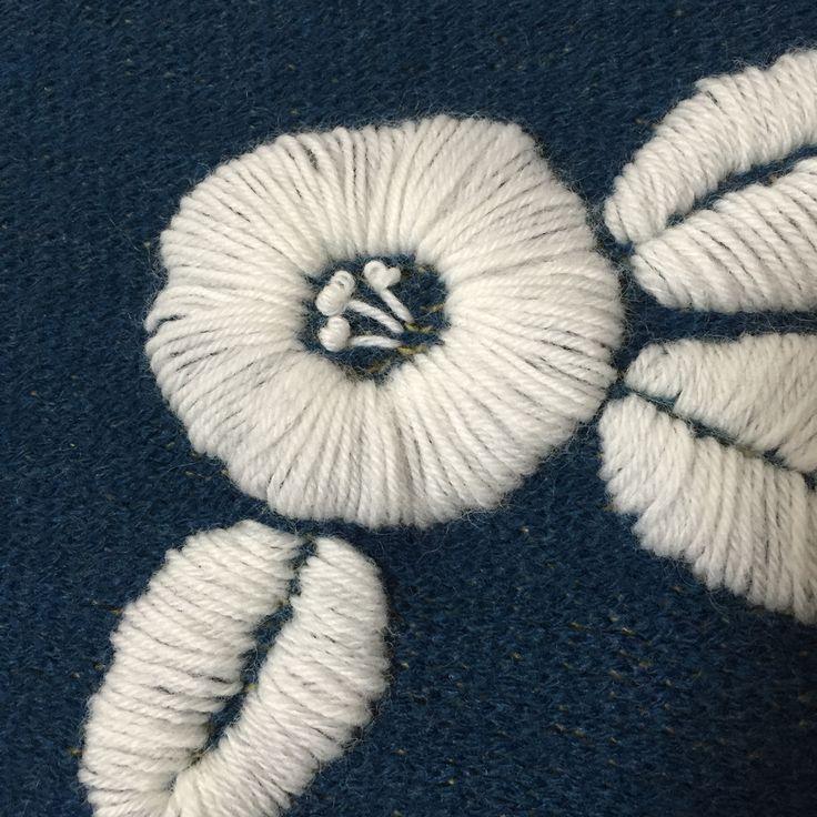 毛糸の刺繍