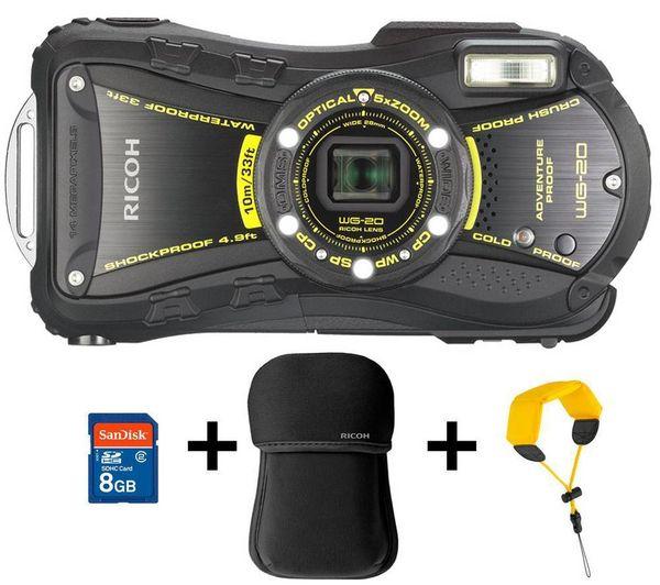 RICOH WG-20 - svart - Digitalkamera + Etui i neopren + Snor som flyter + Minnekort 8 Gb fra Pixmania. Om denne nettbutikken: http://nettbutikknytt.no/pixmania/
