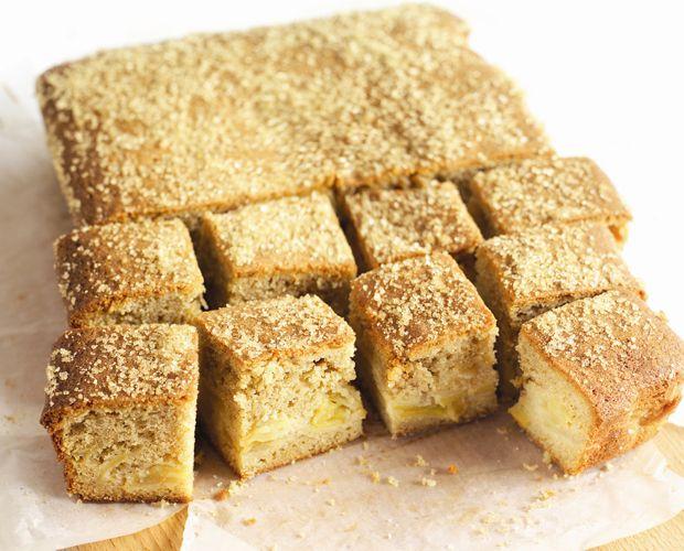 Cinnamon and Bramley Apple Tray-Bake Recipe |
