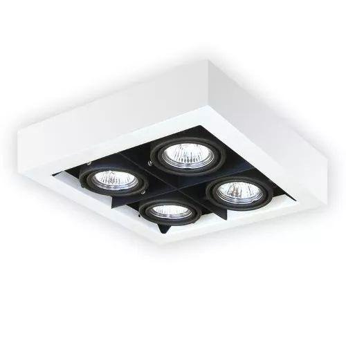 plafon cardanico 4 luces lamp. dicroicas apto dicro led gu10