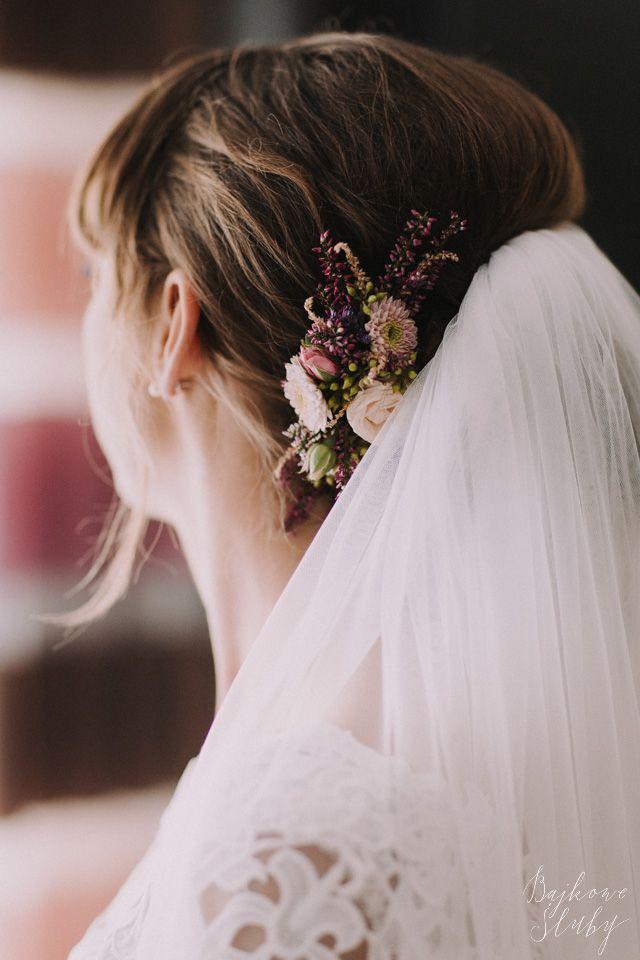 INNA Studio_floral crown / pół-wianek ślubny / wianek na tył głowy / fot. Bajkowe Śluby