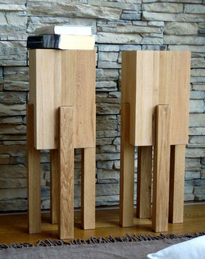 tavolini in massello di quercia spazzolata