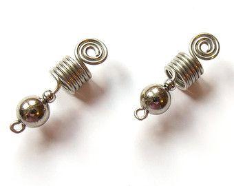 Sisterlocks jewelry Heavy metal Dread cuff coils beads Dreadlocks jewelry, Metal dread rings Rocker Hair accessories Dread cuff metal coils