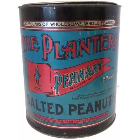"Vintage ""Planters Peanuts"" commercial store tin (c 1920s)"