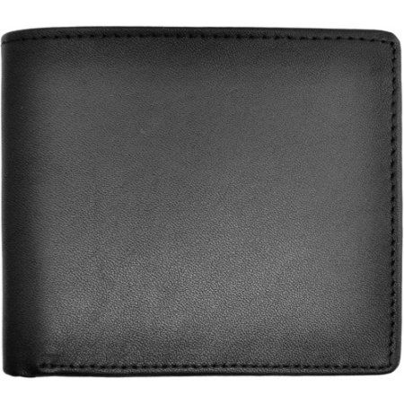 Royce Leather Rfid Blocking Men's Bifold Wallet with Double ID Flap in Genuine Leather, Black