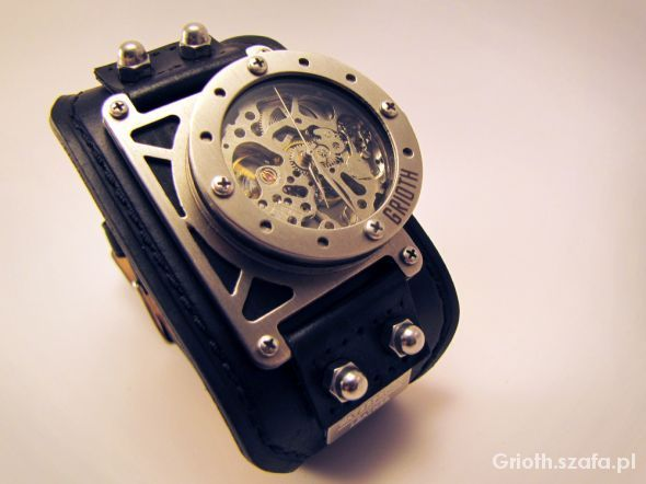 GRIOTH INDUSTRIAL STEAMPUNK CUSTOM WATCH ZEGAREK w Zegarki - Szafa.pl