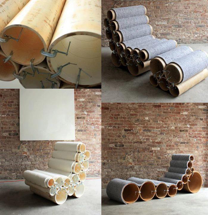 Cardboard tube lounge chair