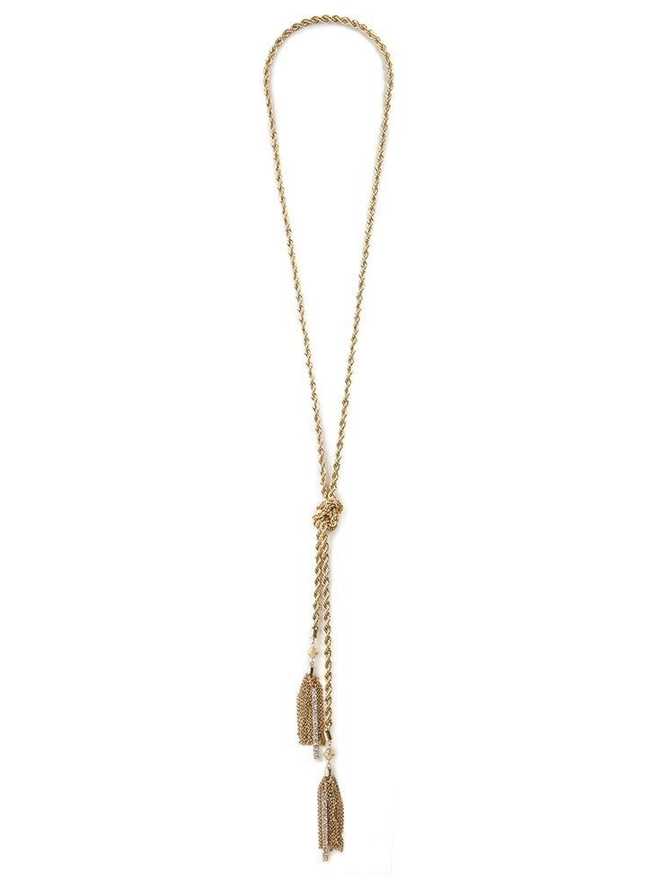 love our iced gold lariat necklace from the Courtney Kerr collection!