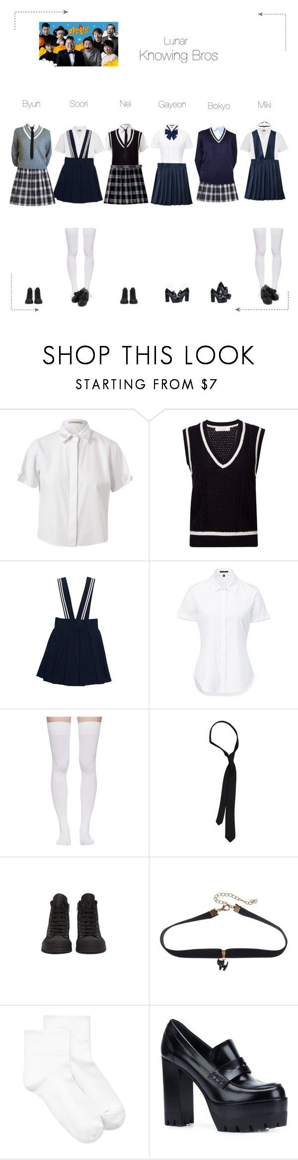 """Lunar (루나) Knowing Bros"" by lunar-official ❤ liked on Polyvore featuring Christopher Kane, Le Ciel Bleu, Theory, French Toast, Marieyat, French Connection, Ann Demeulemeester, HUE, Mulberry and lunarvariety"