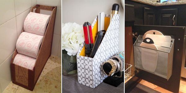 Creative uses for magazine holders to organize your home.