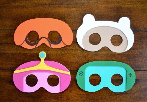 ADVENTURE TIME PARTY Masks - Set of 15, Adventuretime Party, Adventuretime Birthday, Finn, Jake, Beemo, Princess Bubblegum
