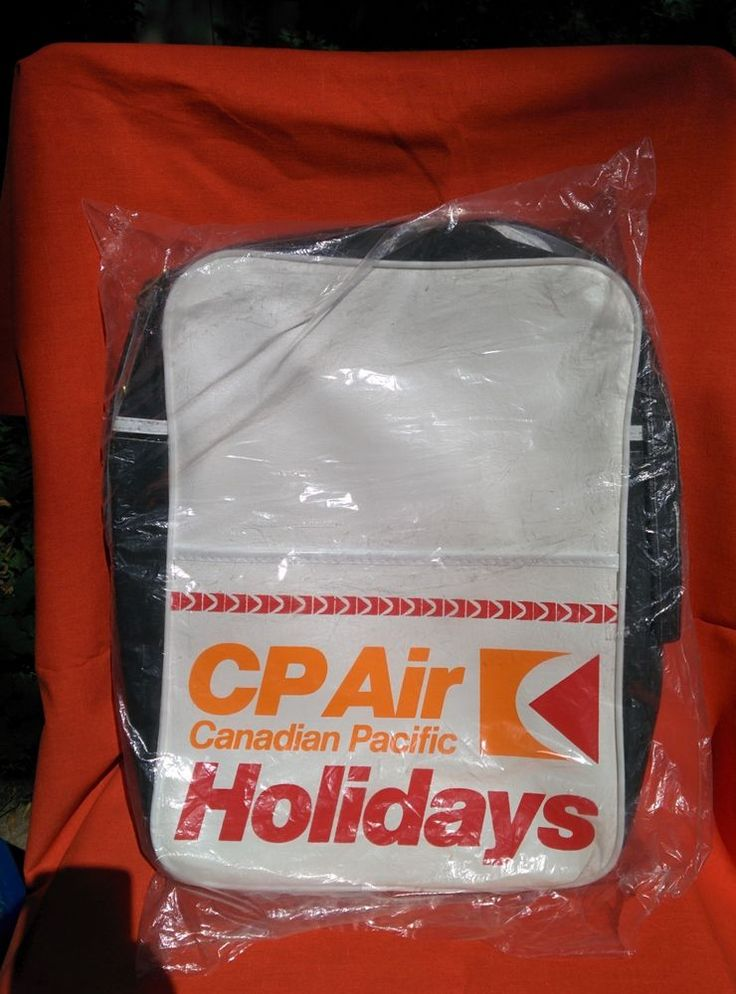 CP Air Canadian Pacific Flight Bag -- Vintage Retro 70s MINT Sealed in Plastic