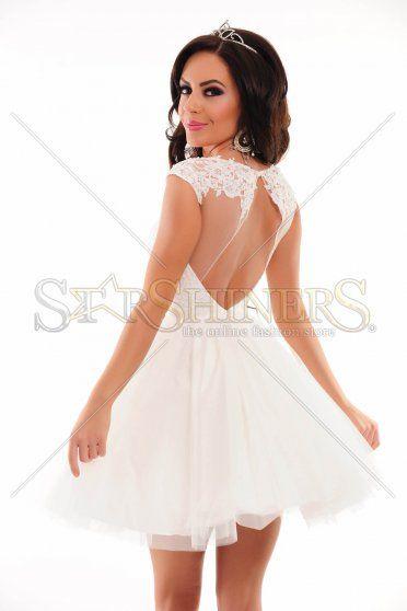 Rochie Sherri Hill 21217 White