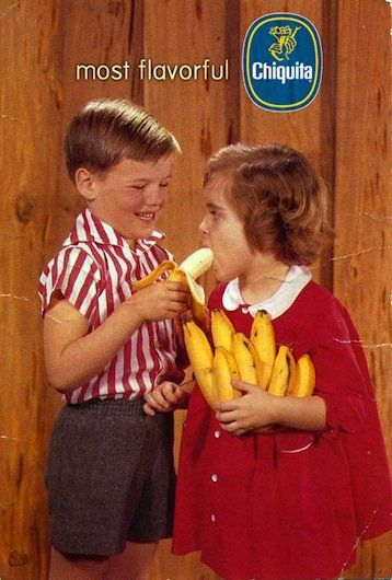 Chiquita bananas--he looks happy; she doesn't.    .....................Please save this pin.   .............................. Because for vintage collectibles - Click on the following link!.. http://www.ebay.com/usr/prestige_online