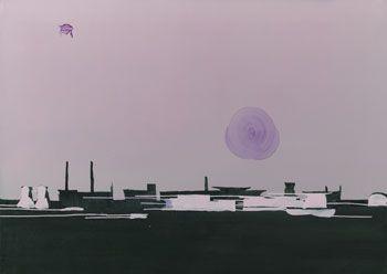 Mościce 1, 2005, olej na płótnie, 100 x 140 cm, dzięki uprzejmości kolekcji Fundaçao de Serralves - Museum of Contemporary Art,
