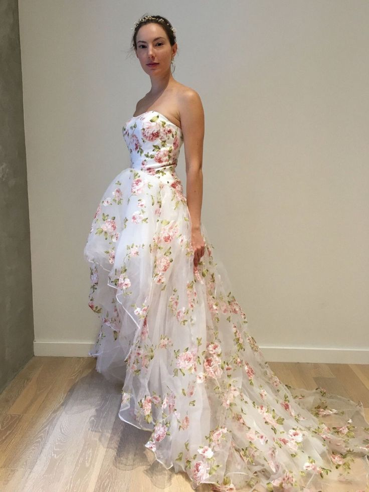 20 Blooming Gorgeous Floral Wedding Dresses