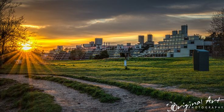 Sunset at the University of East Anglia in Norwich #sunset #landscapephotography #UEA