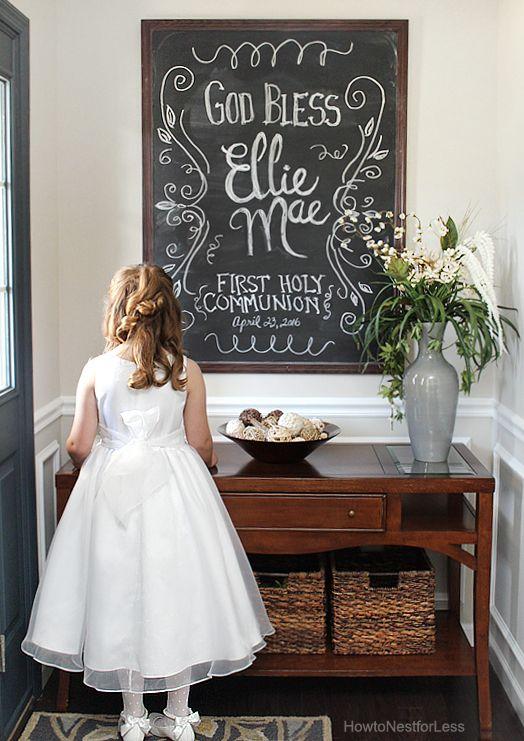 first communion chalkboard