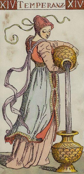 Temperance card from the Master Tarot (Tarocchi del Maestro)
