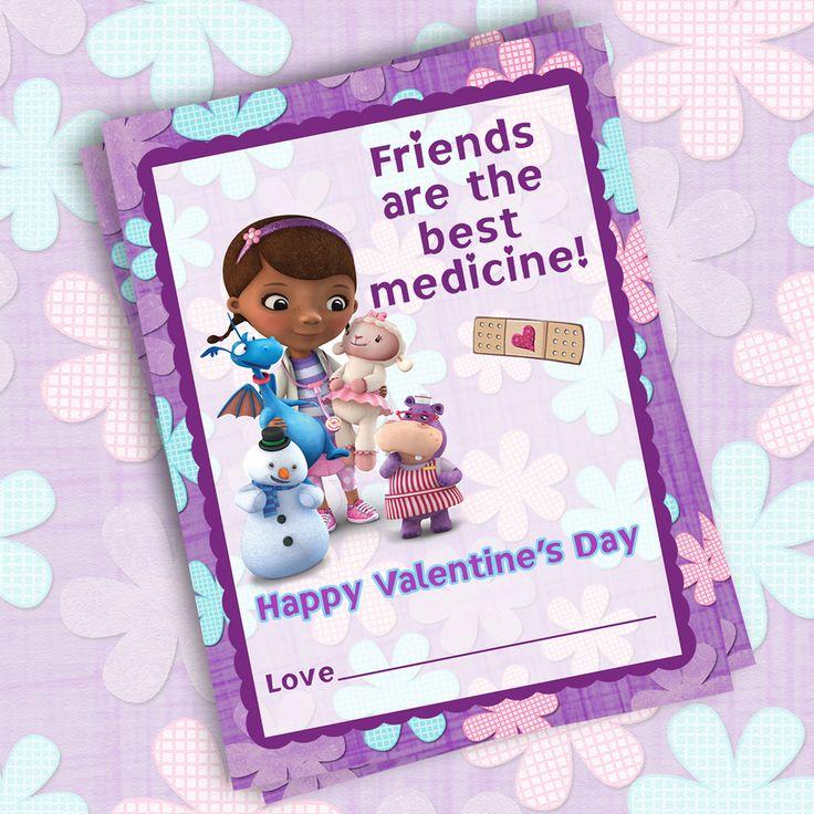 Printable Doc McStuffins Valentine Cards Only 5