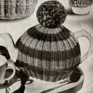 Vintage tea cozy pattern- bobble hat tea cosy pdf download