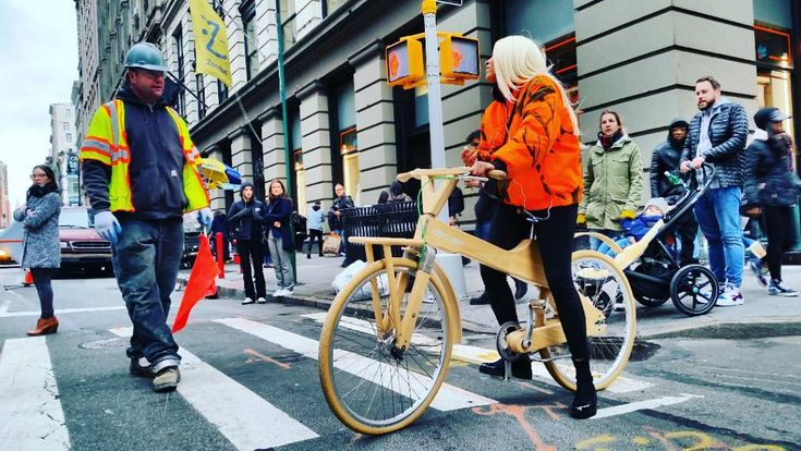 #constructionworker #girlonbicycle #woodenBicycle #WeNYC #clothes #soho #style #RealNewYorker #fashion #graphic #NYSwagger #ThatsTheWayWeRollupinHere #ColorfulCharacter #streetstyle #OnlyinSoho #onlyinnewyork #SassyStrutter #SassyStyle #punks #neon #florescent #dayglow #tommytees #AManOfTheCloth #aNYthing