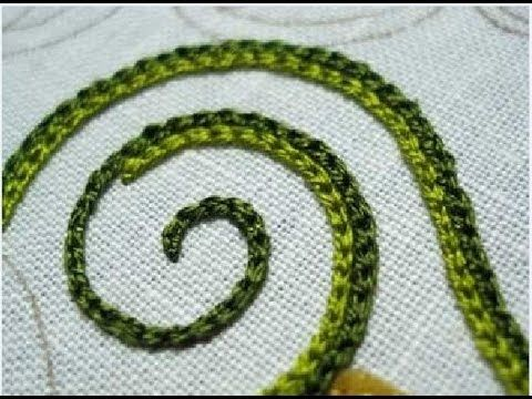 How to Make Hand Embroidery Stitches - Chain Stitch - Tutorial . - YouTube
