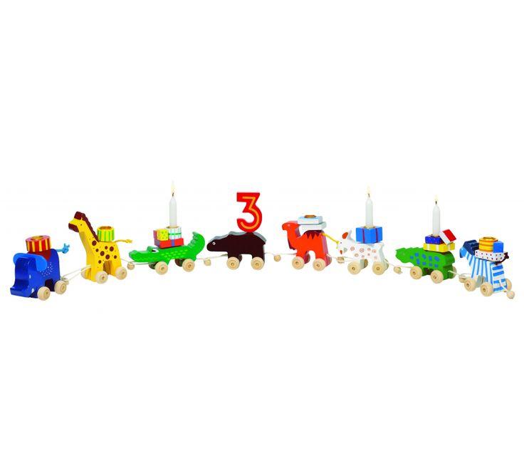 Goki, fødselsdagskaravane m. dyr inkl. tallene 1-6, dkk 150