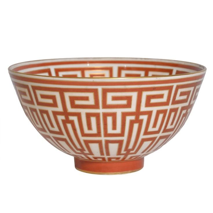 gio ponti china bowl - italy - c1927 - height: 3.94 in. (10 cm)  diameter: 8.27 in. (21 cm) - via traslucdio - 8062 usd