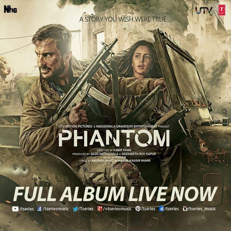 N here it is!! *PHANTOM* Full Album Live now--> http://bit.ly/1hsYxPZ  Do Let us know which one's your Favorite??  #TseriesMusic #Phantom #SaifAliKhan #KatrinaKaif #FullAudioAlbum