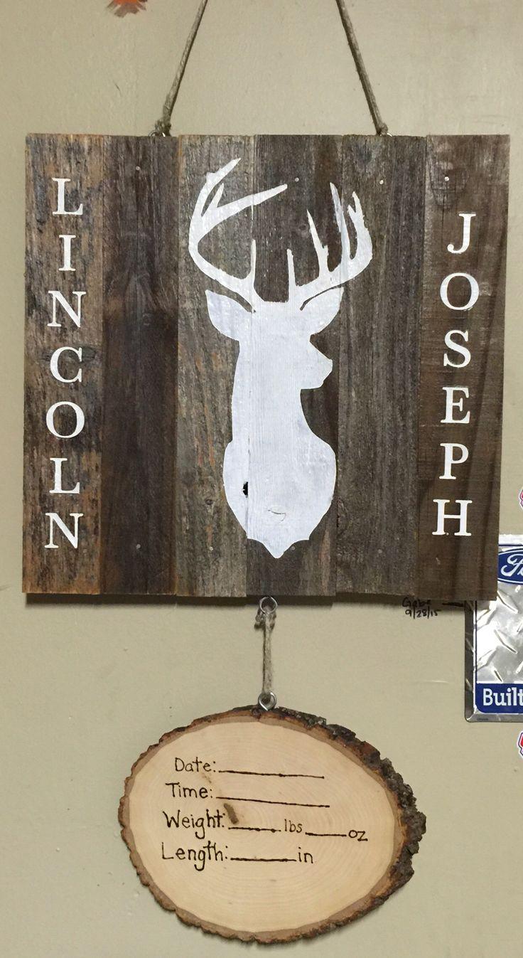 289 best door hangers wooden images – Harrisburg Hospital Birth Announcements