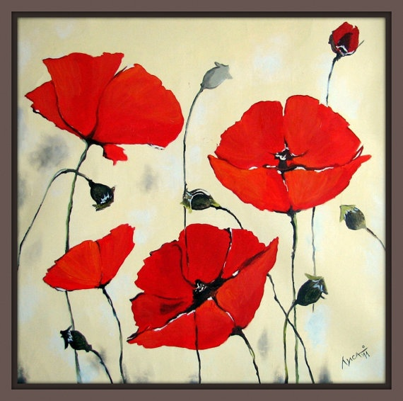 74 best images about painting on pinterest acrylics - How to paint poppy flowers ...