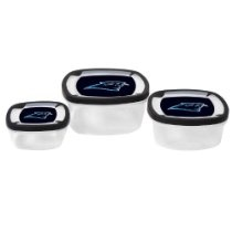 NFL Carolina Panthers Square Storage container set of 3