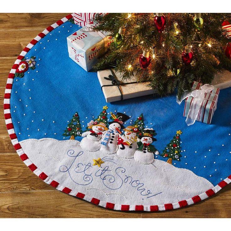 Bucilla® Let it Snow Tree Skirt Felt & Sequin Kit