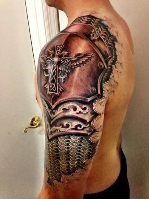 Celtic Armour Shoulder Tattoo Design