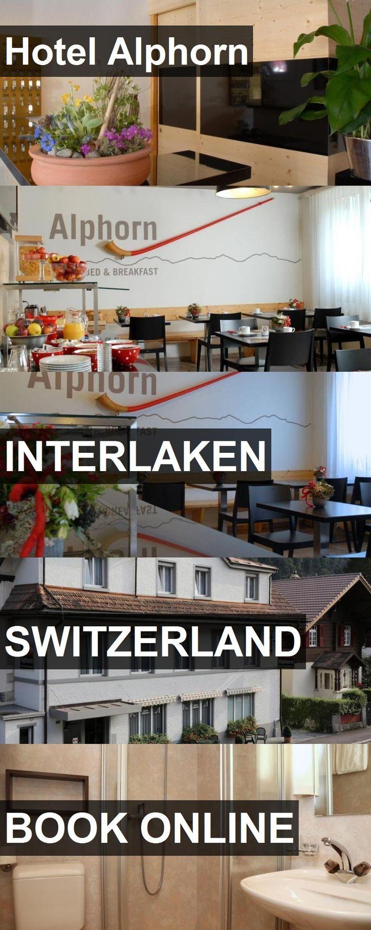 Hotel Alphorn in Interlaken, Switzerland. For more information, photos, reviews and best prices please follow the link. #Switzerland #Interlaken #travel #vacation #hotel