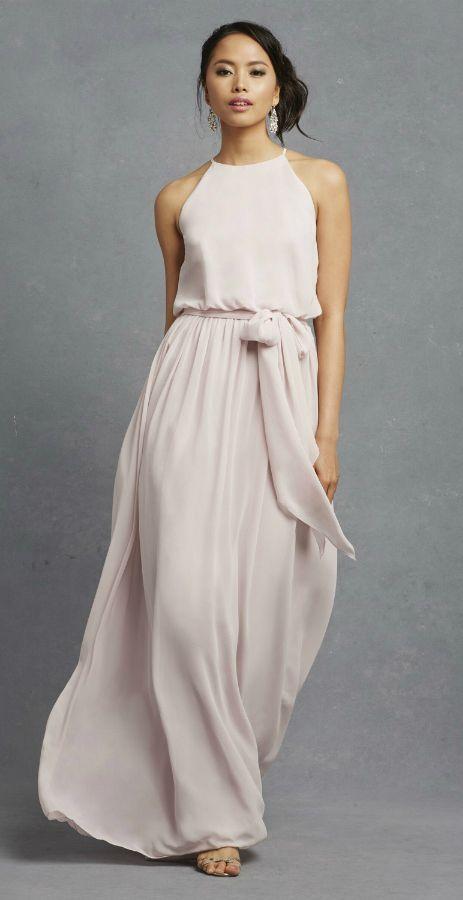 *DONNA MORGAN || Pale pink bridesmaid dress 'Alana' | Vestido dama de honor rosa pálido 'Alana'