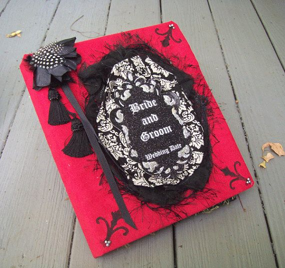 Halloween Guest Book PERSONALIZED Corpse Bride Wedding by Oddsurd, $57.00