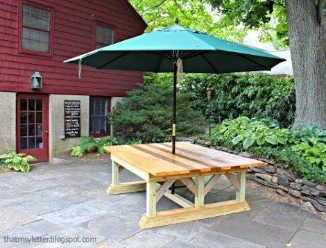 Une table de jardin fabriquer soi m me memes and tables - Fabriquer une table de jardin ...