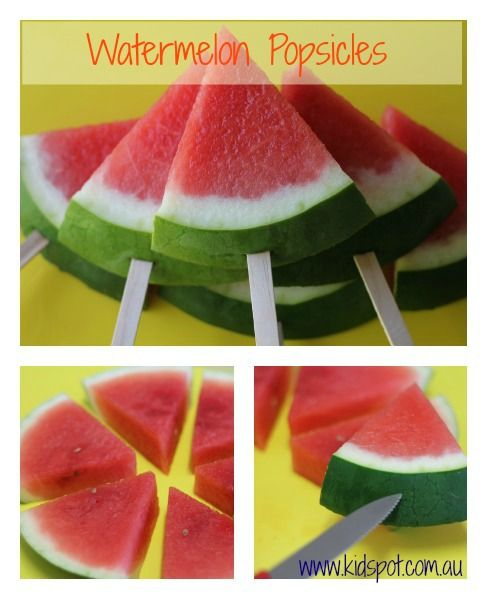 Watermelon Popsicles Recipe - After school snacks