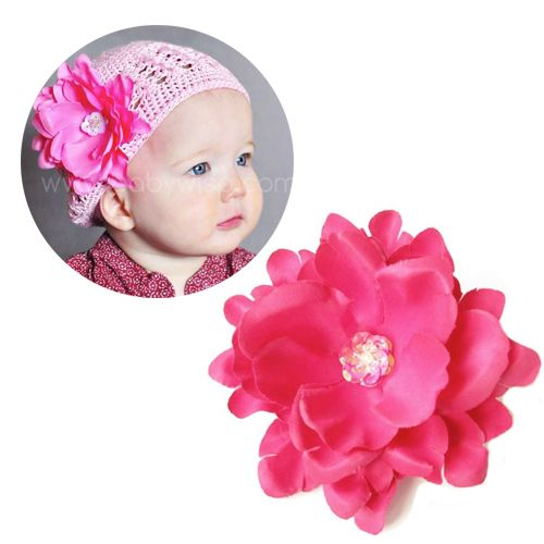 Summer Baby and toddler girl Hair Accessories, clip this island breeze into sweaters, hats, headbands and hair.