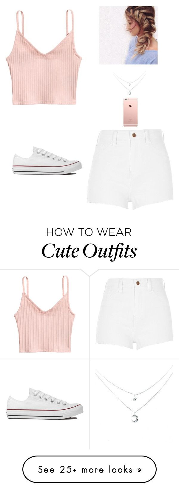 """""""Cute outfit"""" by ariespinosa333 on Polyvore featuring River Island and Converse"""