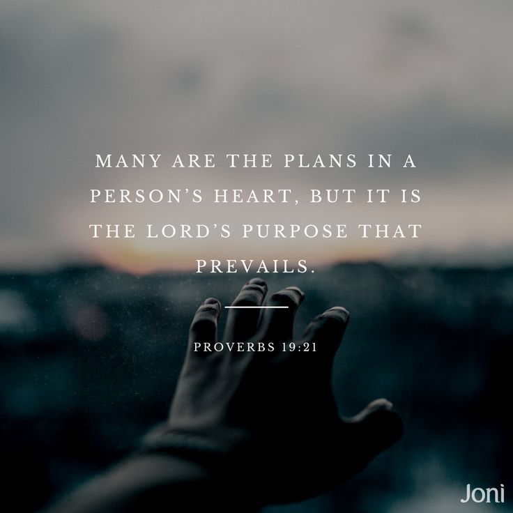 I always took this as saying that the wrong plans won't prevail--God knows best. But after experiencing extreme disillusionment, and realization that I once desired something I cannot have, this gives me hope that God saw this coming and is moving me past this into something better--something worthwhile.