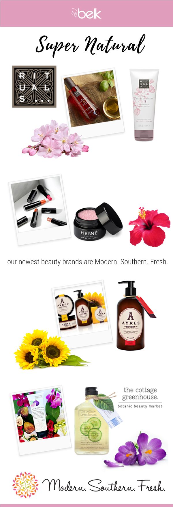 You spend so much time worrying about what you put in your body, why not what you put on it? Take a more natural approach to your skin-care routine and makeup with Modern.Southern.Fresh., your one-stop shop for the best in natural and organic beauty! Find everything from sheet masks to foundation in store and online at belk.com.