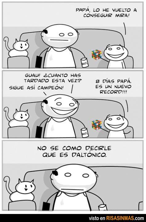 Daltonismo y cubo de Rubik.